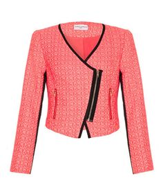 Pink asymmetric jacket Sale - Almost Famous Sale