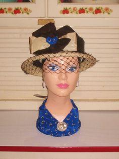 Decorative  Lady Mannequin Head, Hand Painted, Styrofoam, Meet Maxine. $48.00, via Etsy.
