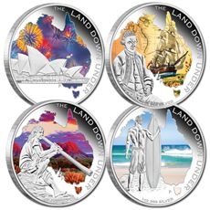 A distinctively Australian celebration of the Great Southern Land, this impressive four coin collection from the Perth Mint unites brilliant full-colour designs, strictly limited availability and pure precious metal.