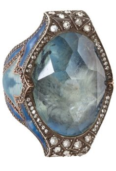 SEVAN BICAKCI Diamond & Aquamarine Dove Ring