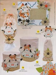 Cow Kitchen, Kitchen Kit, Sewing Hacks, Sewing Projects, Teapot Crafts, Cow Ornaments, Cow Craft, Appliance Covers, Hanging Towels