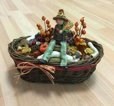Fall-Őszi dekoráció Picnic, Centerpieces, Basket, Autumn, Halloween, Ideas, Home Decor, Art, Good Ideas