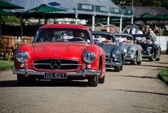 Four pristine Mercedes Benz 300SL Gullwing models. You are welcome.
