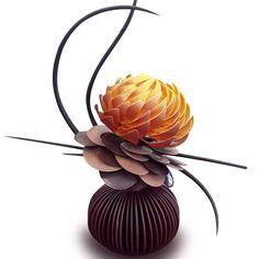 i ♥ chocolate Chocolate Work, Chocolate Flowers, Chocolate Delight, Chocolate Fondant, Homemade Chocolate, Chocolate Showpiece, Chocolate Garnishes, Amazing Food Art, Blackberry Syrup