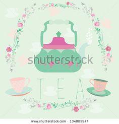 Vector illustration of tea - stock vector
