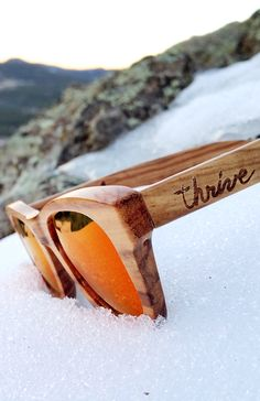 Thrive Shades on sale for $60 with free shipping! Our handcrafted wood sunglasses have UV 400 polarized lenses and float on water! We even plant a tree for every sale! www.etsy.com/shop/ThriveShades