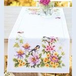 Spring Mood Table Runner - handwerkpakket met telpatroon Vervaco