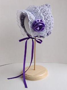 Crochet Baby Bonnet Pattern   ... Afghan ( free crochet pattern by Lion Brand Yarn available on Ravelry