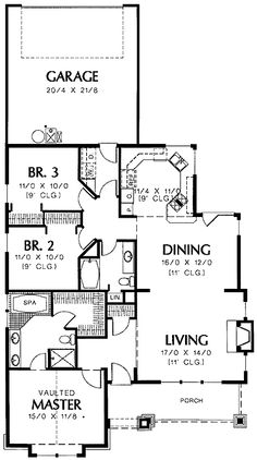 Deluxe Master Suite (HWBDO01353) | Bungalow House Plan from BuilderHousePlans.com