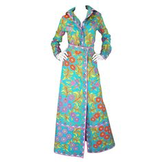 1960s Tropical Emilio Pucci Top & Skirt Set | From a collection of rare vintage suits, outfits and ensembles at https://www.1stdibs.com/fashion/clothing/suits-outfits-ensembles/