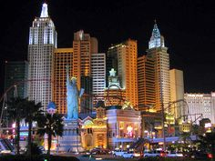 Las Vegas is a dream place for tourists. Its main attraction is the lightening decorative outlook.