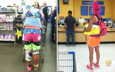 Classy people of Walmart (newest entries 33 pics)Seriously, For Real? Fashion Fail, Funny Fashion, Weird Fashion, Walmart Customers, Walmart Shoppers, Only At Walmart, People Of Walmart, Crazy Outfits, Funny Outfits