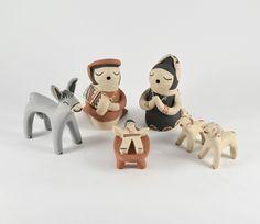 6 Piece Nativity Set by Lupe Lucero (Jemez)