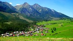 Ždiar village with the High Tatras (part of the Inner Western Carpathians) in the background, Slovakia. High Tatras, Visit Romania, Carpathian Mountains, Tatra Mountains, Heart Of Europe, Central Europe, Adventure Is Out There, Traveling By Yourself, Beautiful Places