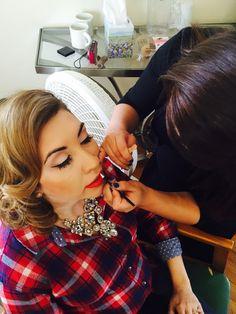 Aveda makeup used for wedding pinup inspiration