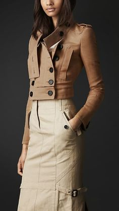 Burberry Prorsum Disconnected Collar Cotton Linen Jacket