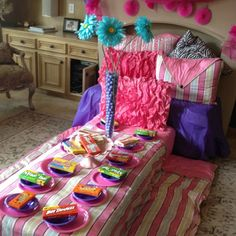 10th birthday party --slumber party style!!