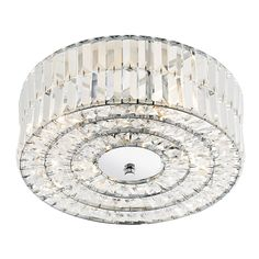 The Errol Crystal 4lt Semi Flush ceiling light from Dar is beautifully finished in a polished chrome frame. Dar ERR5250