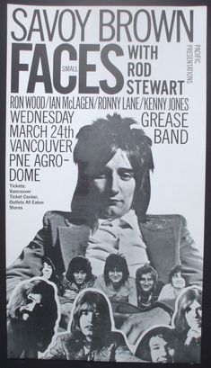 Small Faces w/Rod Stewart Savoy Brown 1971 Vancouver