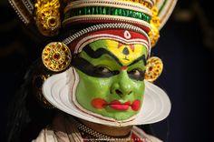 NAVARASA Facial Expressions in Kathakali, total nine images represents each expression.
