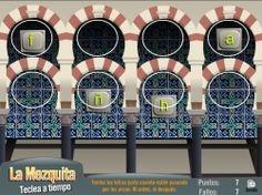 Este juego es de mecanografía y está ambientado en la Mezquita de Córdoba. http://www.edukanda.es/mediatecaweb/data/zip/271/juegos_destreza/flash/mezquita-teclado.swf