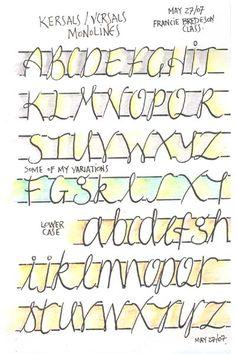 Kersal Monoline calligraphy exemplar  #art #journal #handlettering