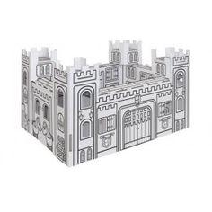 Cardboard castle to colour Villa Carton