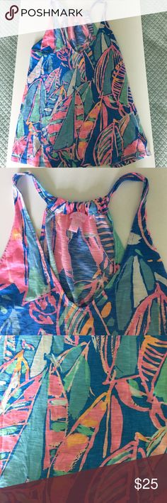 Lilly Pulitzer tank top Super cute Lilly Pulitzer tank top perfect for spring and summer Lilly Pulitzer Tops Tank Tops
