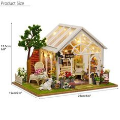 """Universe of goods - Buy """"DIY Wooden House Miniaturas with Furniture DIY Miniature House Dollhouse Toys for Children Christmas and Birthday Gift for only USD. Wooden Dollhouse Kits, Miniature Dollhouse Furniture, Dollhouse Toys, Miniature Dolls, Dollhouse Miniatures, Vitrine Miniature, Flower Room, Diy Casa, Led Diy"""