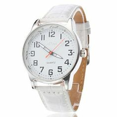 Tanboo Unisex Simple Design PU Analog Quartz Wrist Watch (White) by Tanboo. $10.99. Women's, Men's Watche. Wrist Watches. Casual Watches. Gender:Women's, Men'sMovement:QuartzDisplay:AnalogStyle:Wrist WatchesType:Casual WatchesBand Material:PUBand Color:WhiteCase Diameter Approx (cm):4Case Thickness Approx (cm):0.8Band Length Approx (cm):19Band Width Approx (cm):2