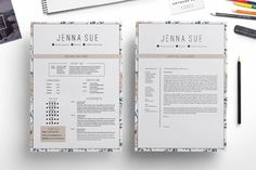 Floral 1 page resume ~ Resume Templates on Creative Market
