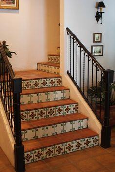 terra cotta tile + Spanish tile... two of my favorites!