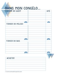 Anti-waste tip: list the contents of your freezer! Diy Organisation, Organization Bullet Journal, Journal Organization, Organizing, Weekly Log, Diy Agenda, Flylady, Home Management, Blog Planner