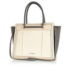 Cream colour block winged tote bag £45.00 River Island In need of a new bag e9890b4021
