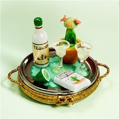 Limoges Tequila Margarita Tray with Cactus Box The Cottage Shop