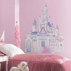Roommates Rmk1546Gm Disney Princess Glitter Castle Peel & Stick Giant Wall Decal RoomMates http://www.amazon.com/dp/B00422MQVS/ref=cm_sw_r_pi_dp_oQoBvb0FVCMTG