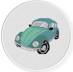 FREE Classic Bug Car Cross Stitch Pattern