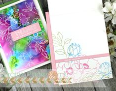 Alcohol Pearl Ink Backgrounds 2 Ways Candy Cards, Flower Stamp, Simon Says Stamp, Pretty Cards, Distress Ink, Card Kit, Paper Background, Making Ideas, Cardmaking
