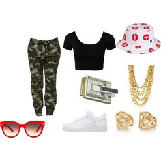BIG MONEY BALLER by sydneycute1 on Polyvore featuring NIKE, Equipment, HUF and M-Clip