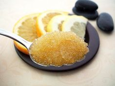 Homemade Sugar Scrub    1 teaspoon sugar  1 teaspoon olive oil    1 drop vanilla extract    1.  Whisk the ingredients together.    2.  Massage on your face and neck directly over the sink, as some of the product will fall as you massage.    3.  Rinse with warm water and a wash cloth (to remove the oil) or step into the shower.  You can continue with your traditional face wash and toner if desired.  Then moisturize.
