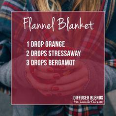 Flannel Blanket - for more Fall diffuser blends visit lavenderrocks.com