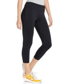Ideology Rapidry Cropped Leggings, Only at Macy's - Black XXL