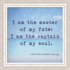 I am the captain of my soul :: Yes. Love this print.