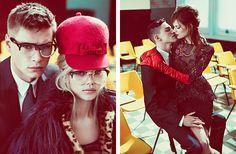 Daphne Groeneveld, Bette Franke und Frida Aisen, Liuk Bass and Simon van Meervenne for DSquared2 Fall/Winter 2012/2013 Ad Campaign by Mert Alas & Marcus Piggott.
