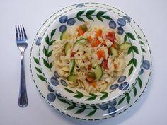 Tangy Pasta Salad Tangier, Pasta Salad, Rice, Nutrition, Food, Crab Pasta Salad, Essen, Meals, Yemek