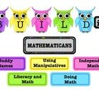 BUILD  (BUILDing Mathematicians) Math Stations Headers- Bright and Bold Owls