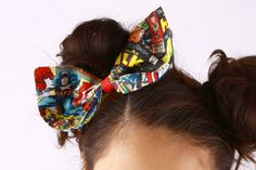 Hey, I found this really awesome Etsy listing at https://www.etsy.com/listing/213070742/marvel-comic-bunny-ear-clip-in-bow