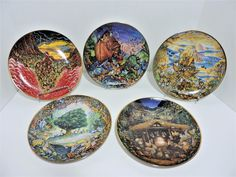 Set of 5 Limited Edition Noah's Ark Franklin Mint Plate Collection By Bill Bell | Collectibles, Decorative Collectibles, Decorative Collectible Brands | eBay!