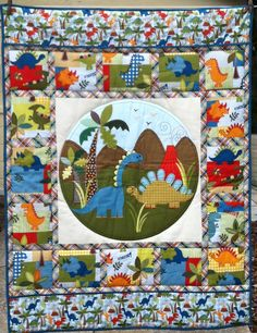 This adorable dinosaur quilt sold at the Jacksonville Quiltfest!