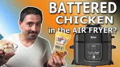 CRISPY BATTERED CHICKEN WINGS IN THE AIR FRYER? - YouTube Fried Chicken, Chicken Wings, Youtube, Youtubers, Baked Fried Chicken, Youtube Movies, Buffalo Wings